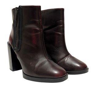 Zara Oxblood Heeled Boots